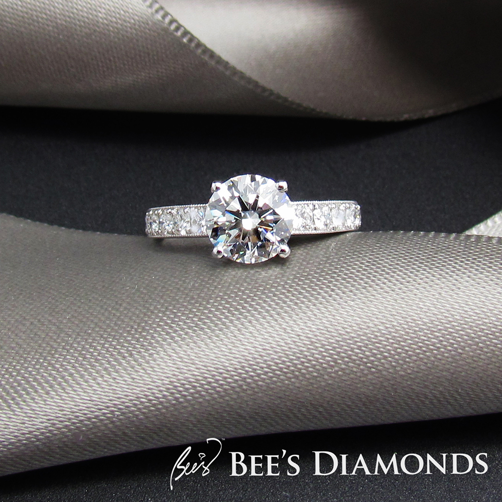 GIA certificate diamond ring | Bespoke engagement rings