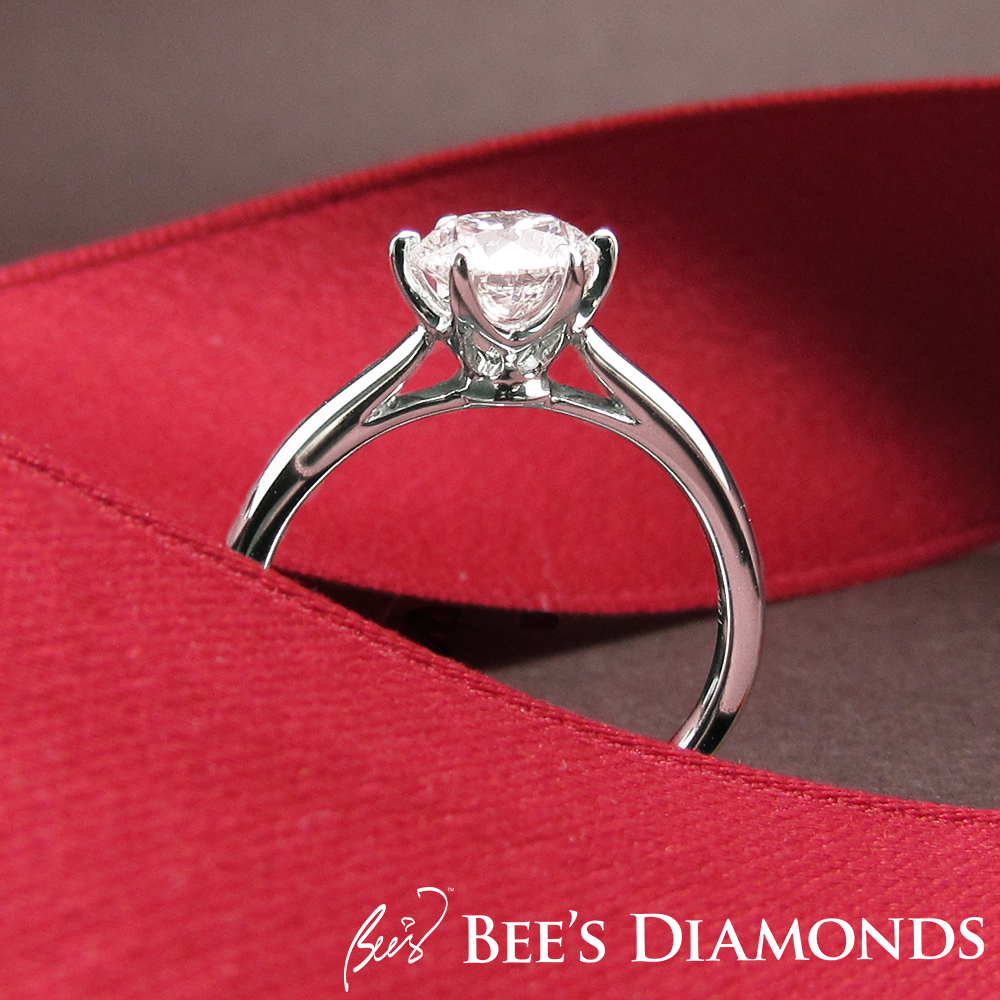 Cartier style diamond engagement ring | Bee's Diamonds