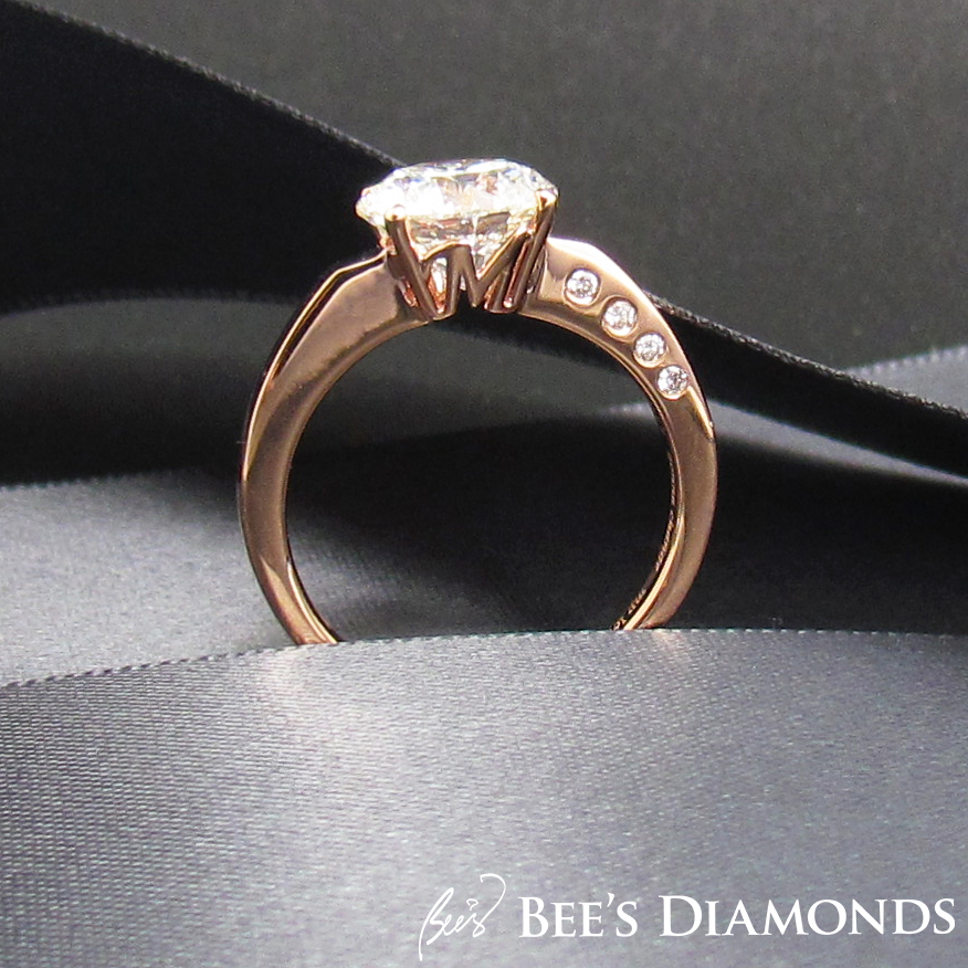 Personalized diamond ring with initials of bride and groom | Bee's Diamonds