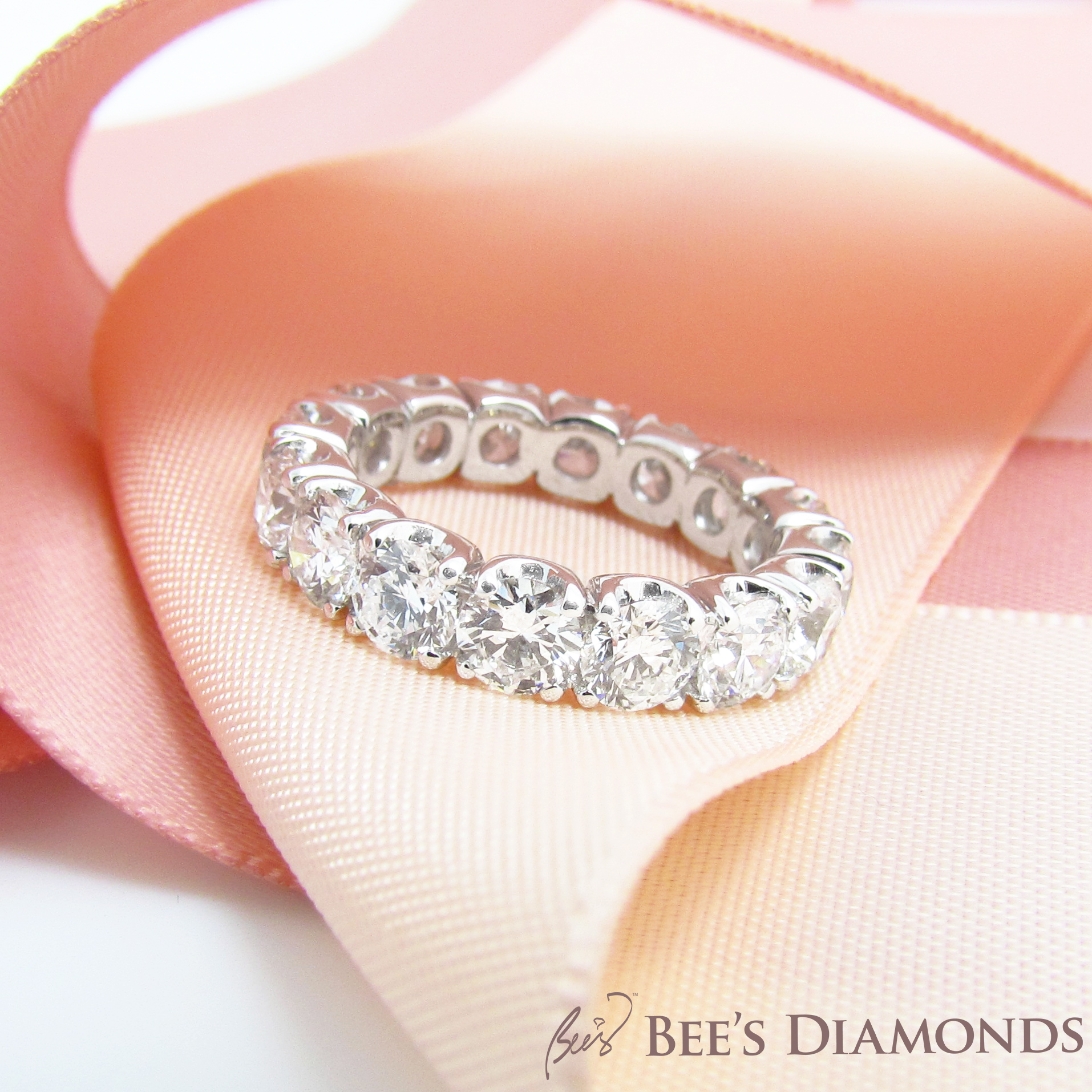 Tiffany Soleste diamond eternity band, bespoke jeweller | Bee's Diamonds