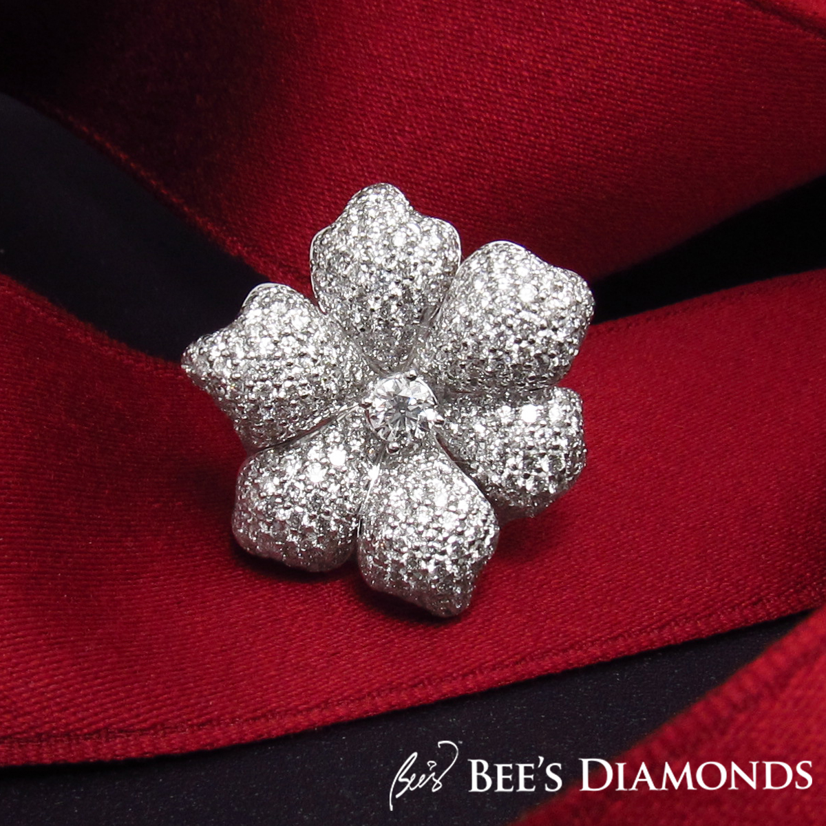 Orchid style diamond ring | Bee's Diamonds
