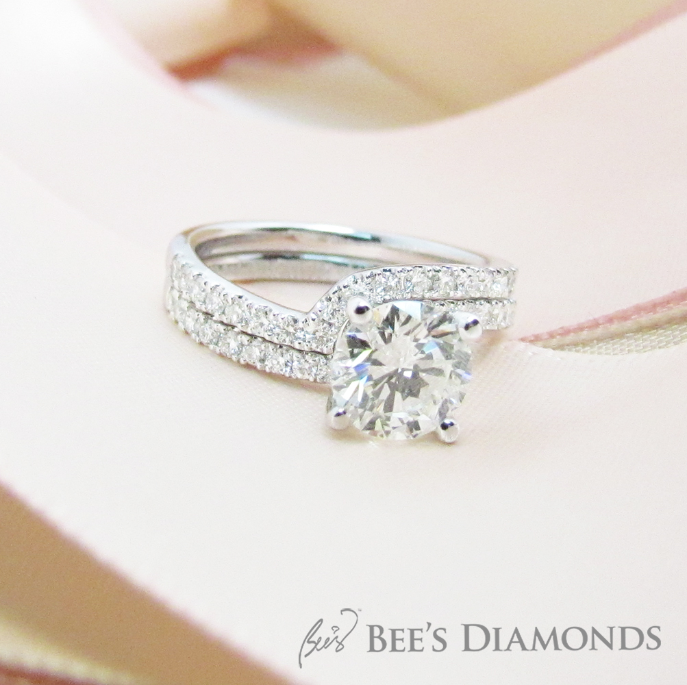 Wedding band for twist engagement ring | Bee's Diamonds