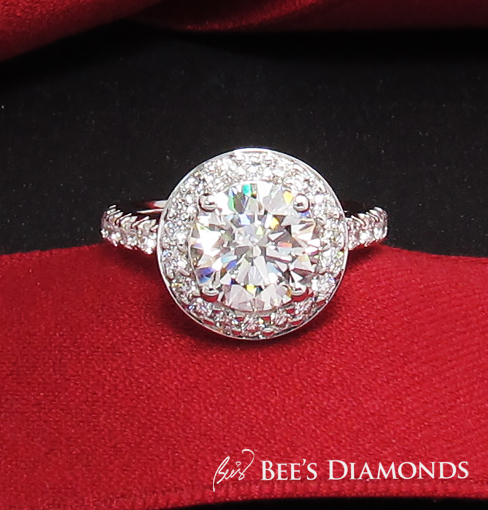 Diamond engagement ring bespoke custom Hong Kong