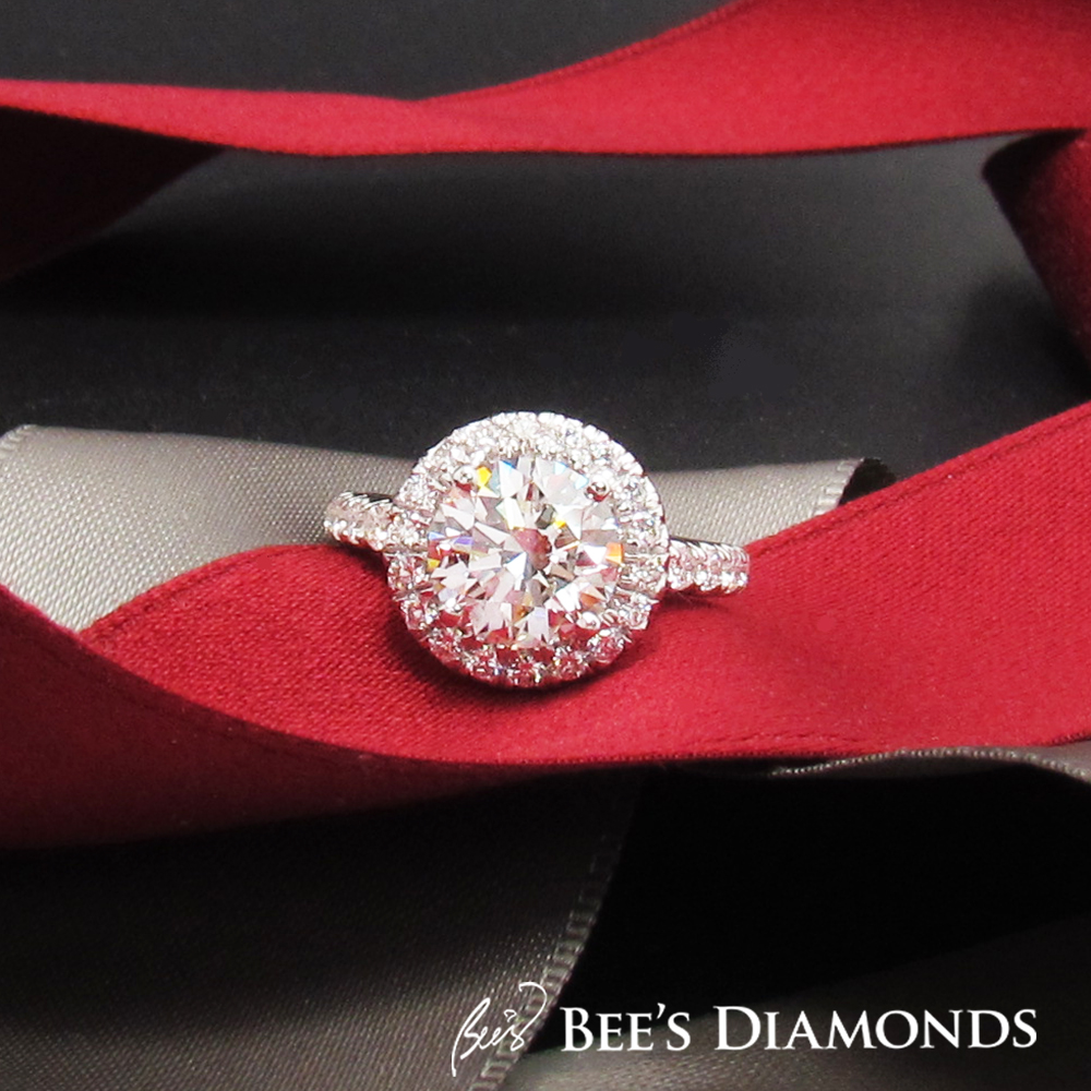 Bespoke diamond engagement ring Hong Kong