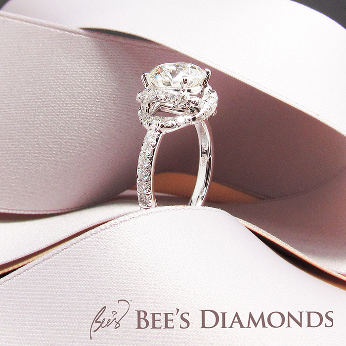 A solitaire diamond ring, bee's Diamonds